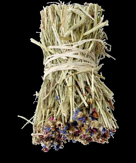 versele-laga nature snack hay bale dandelion 70gr timothy széna jutalomfalat búzavirággal